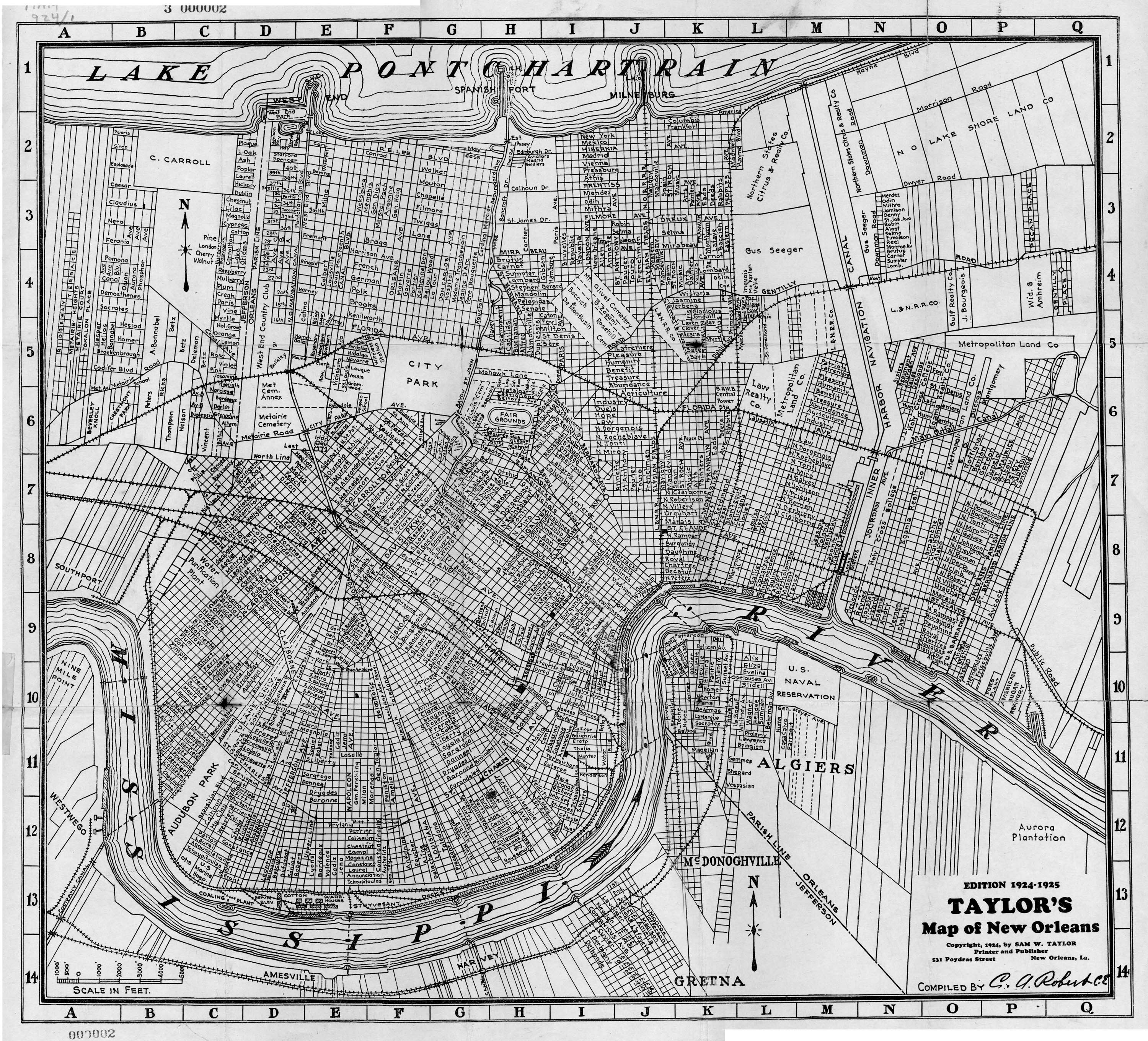 Louisiana New Orleans Map.Nopl Louisiana Map Collection